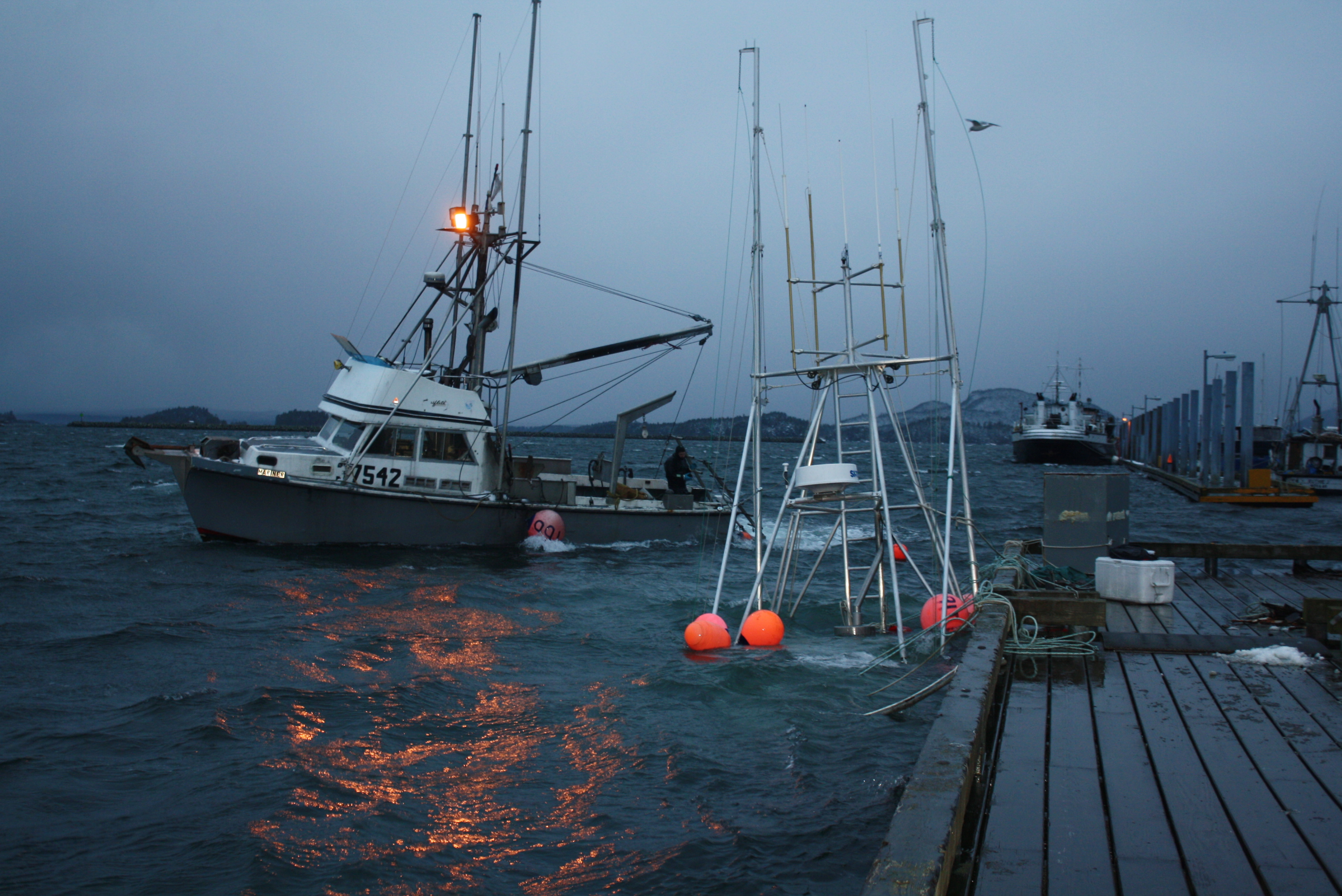 High winds, waves mean wild ride in Sitka harbors