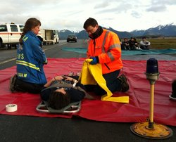 Sitka practices for airport disaster, mass casualties