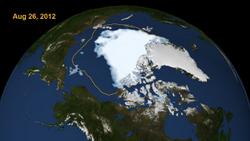Arctic ice on the run
