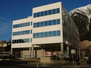 Sealaska Plaza, the regional Native corporation's Juneau headquarters. Four shareholders are challenging the same number of  incumbents as a slate.