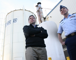 USCG readies pellet boiler as Begich tours