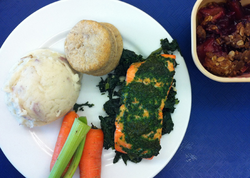 Local eats for a high school in Sitka