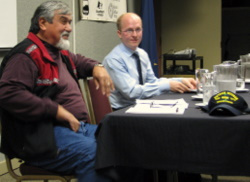 Two paths to the political future offered in Chamber forum