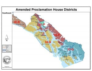 Southeast Alaska's election district map.