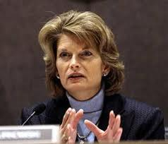 Sen. Lisa Murkowski speaks in Sitka earlier this year.