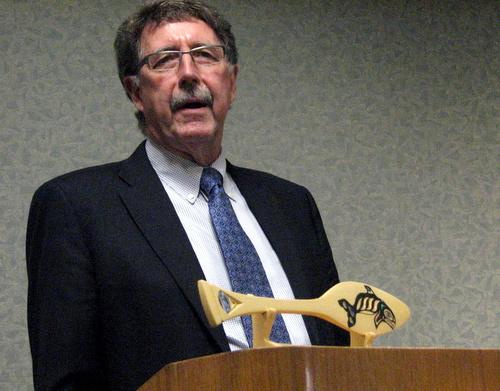 Sealaska vice-president Rick Harris. (KCAW photo/Robert Woolsey)