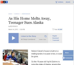 "KCAW's Ed Ronco reported a story out of Sitka for ""All Things Considered,"" from NPR News. Click on the image to listen to the story."