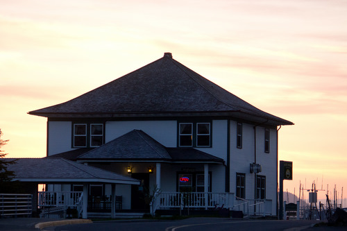 Kay Simmons captured this picture of sunset behind the Cable House, which is home to our studios. Thanks, Kay!