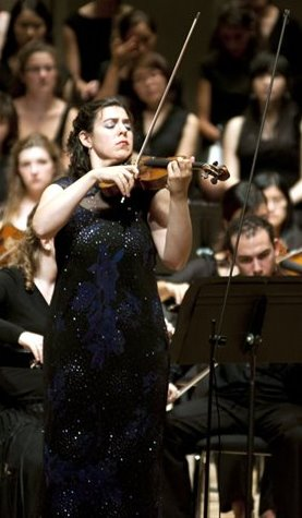 Sarah Kapustin performing with the Festival Orchestra at the University of Indiana.