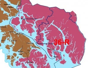 The new House District 36, including Wrangell, Ketchikan, Saxman and Hydaburg.
