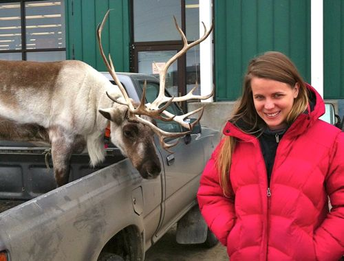 Sarah DeLappe researches her latest project in Nome.