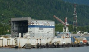 The Ketchikan Shipyard is a big part of Southeast's maritime industry, which will be discussed at this year's Southeast Conference meeting. (Ed Schoenfeld/CoastAlaska News)