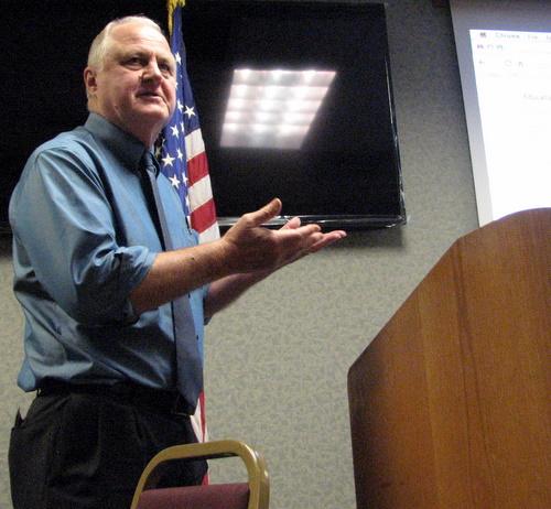 Sitka school superintendent Steve Bradshaw. (KCAW photo/Robert Woolsey)