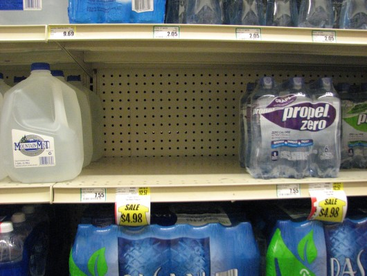 Sitkans flocked to grocery stores to buy water when the water main broke Wednesday night. (KCAW News)