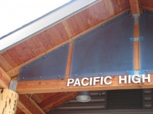 """""""The greatest iteration yet,"""" is how Pacific High co-principal Phil Burdick describes the remodeled school, which has been an educational center for over a century. (KCAW photo/Emily Forman)"""