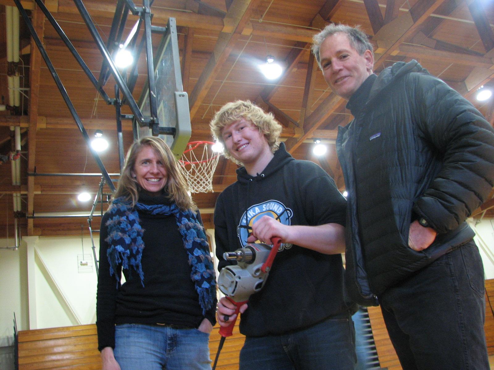 Shop students raise a bit of hoop-la at Sitka gym
