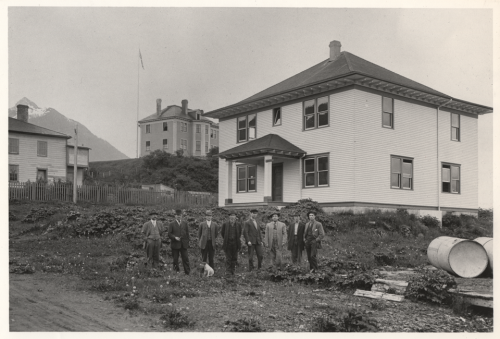 The historic Cable House, home of Raven Radio, soon after it was built in the early 1900s.