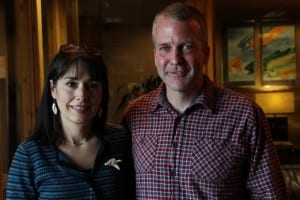 OUTTRO: DaRepublican Dan Sullivan, with his wife Julie Fate Sullivan. Sullivan hopes to challenge incumbent U.S. Senator Mark Begich. (KCAW photo/Rachel Waldholz) n Sullivan is running for the Republican nomination for U.S. Senate. The primary will be held on August 19. The General Election will be November 4.