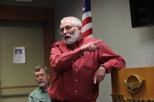 City Engineer Dean Orbison told the Chamber of Commerce that the city will have to rely on Indian River for drinking water in September and October, while the Blue Lake project is completed. (KCAW photo/Rachel Waldholz)