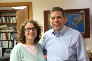 Alaska Senator Mark Begich, with his wife Deborah Bonito, visited Sitka on June 26, 2014. (KCAW photo/Rachel Waldholz)