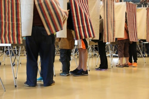 Sitkans vote in the August 19, 2014 Primary Election (KCAW photo/Rachel Waldholz)