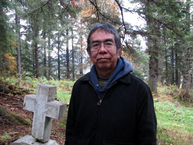 Bob Sam is running for the Sitka Tribe of Alaska Tribal Council. He first served in the mid-90s. (Emily Kwong/KCAW photo)