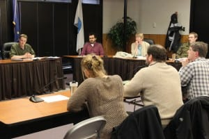 The Sitka School Board and Assembly met for a budget work session on April 9, 2015. (Rachel Waldholz/KCAW)