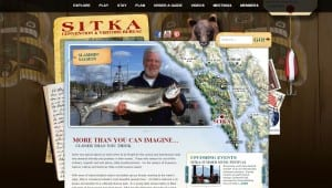 A screenshot of the Sitka Convention and Visitors Bureau website. The assembly has voted to dissolve the bureau. (Screenshot June 24, 2015)