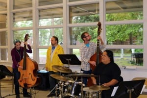 The Native Jazz Workshop comes to the Sitka Fine Arts camp every summer, and is now in its 4th year. Vanessa Walker/KCAW photo