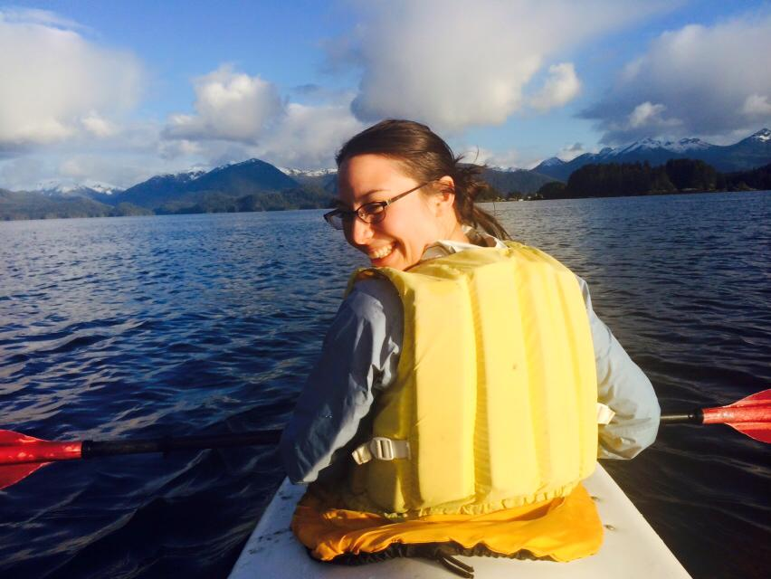 2014-15 Fellow Emily Kwong enjoys one of the perks of Sitka's maritime environment.
