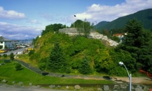 "Castle Hill, in downtown Sitka, is the best place to take in the full measure of the community's ""cultural landscape."" (Alaska Division of Parks photo)"