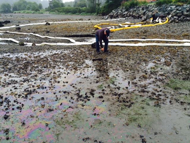 Sitka diesel spill now estimated at 2500 gallons