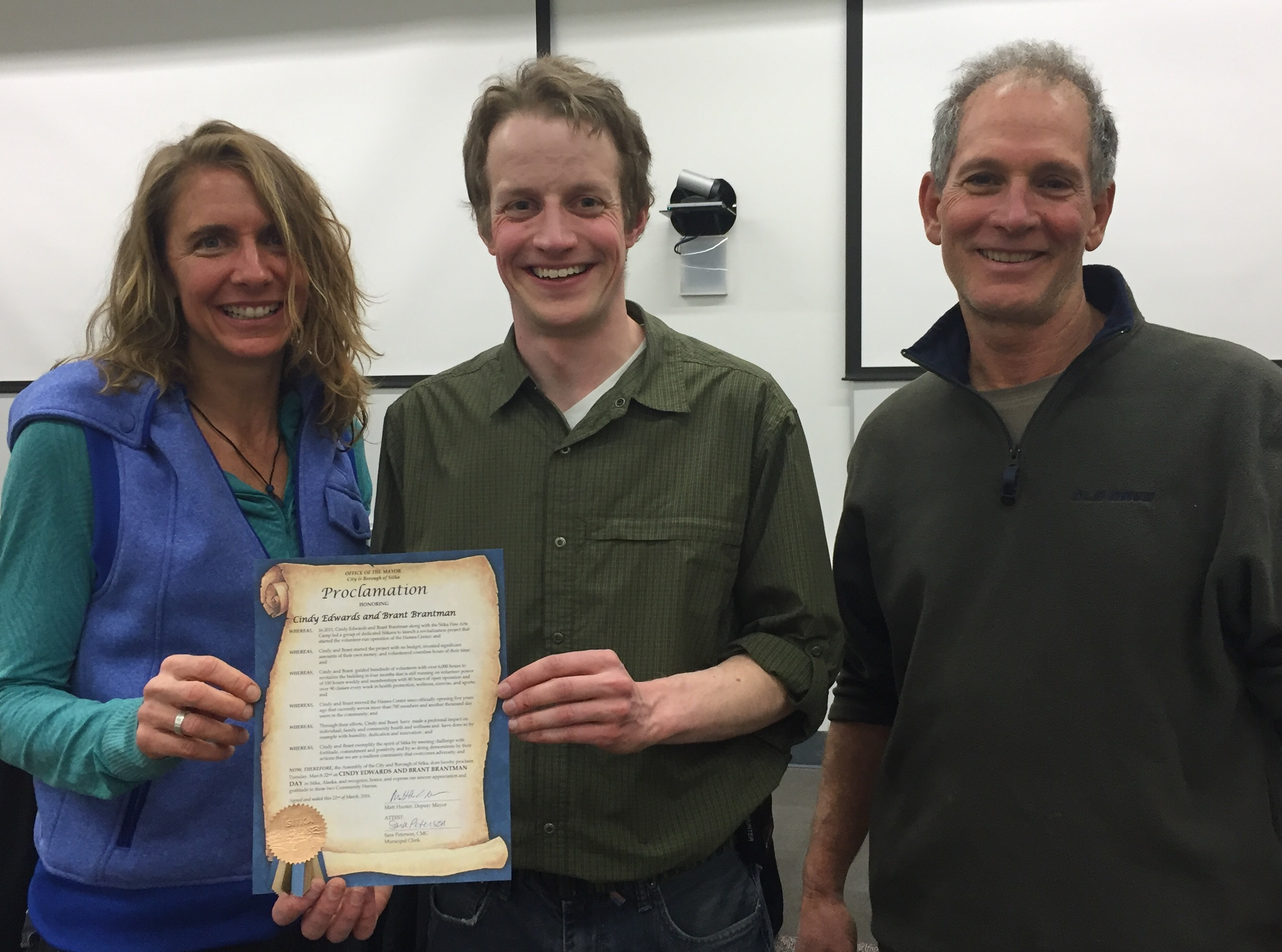 City proclaims special day for Hames Center duo