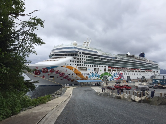 They're here! First summer cruise passenger roam Sitka