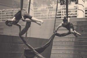 "Performers rehearse for Sitka Cirque's  2015's ""Cirque de Pluie."""