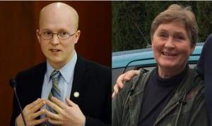 Sheila Finkenbinder (r.) will run as a Republican against two-term Democrat Jonathan Kreiss-Tomkins.