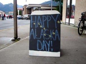 Alaska Day 2014. (KCAW Photo/Emily Kwong)