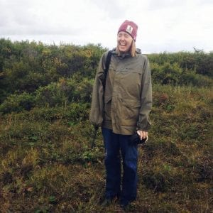 KCAW's Post-Graduate Fellow bird hunting in Nome, Alaska. (Photo courtesy of Emily Russell.)