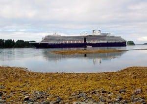 A cruise ship.