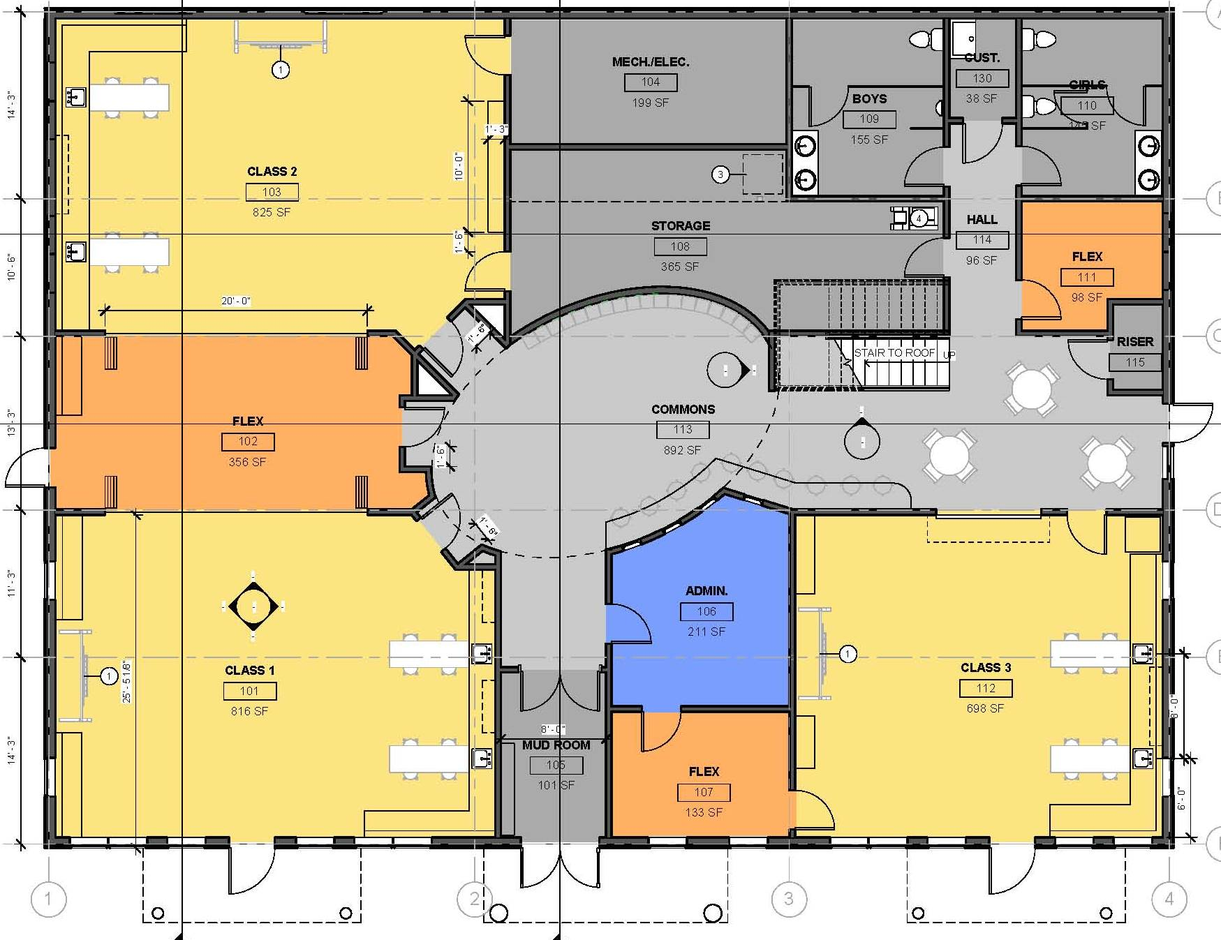Basketball Gym Floor Plans Pacific High Plans Include Commons Roof Garden Kcaw