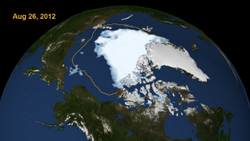 Arctic ice on the run