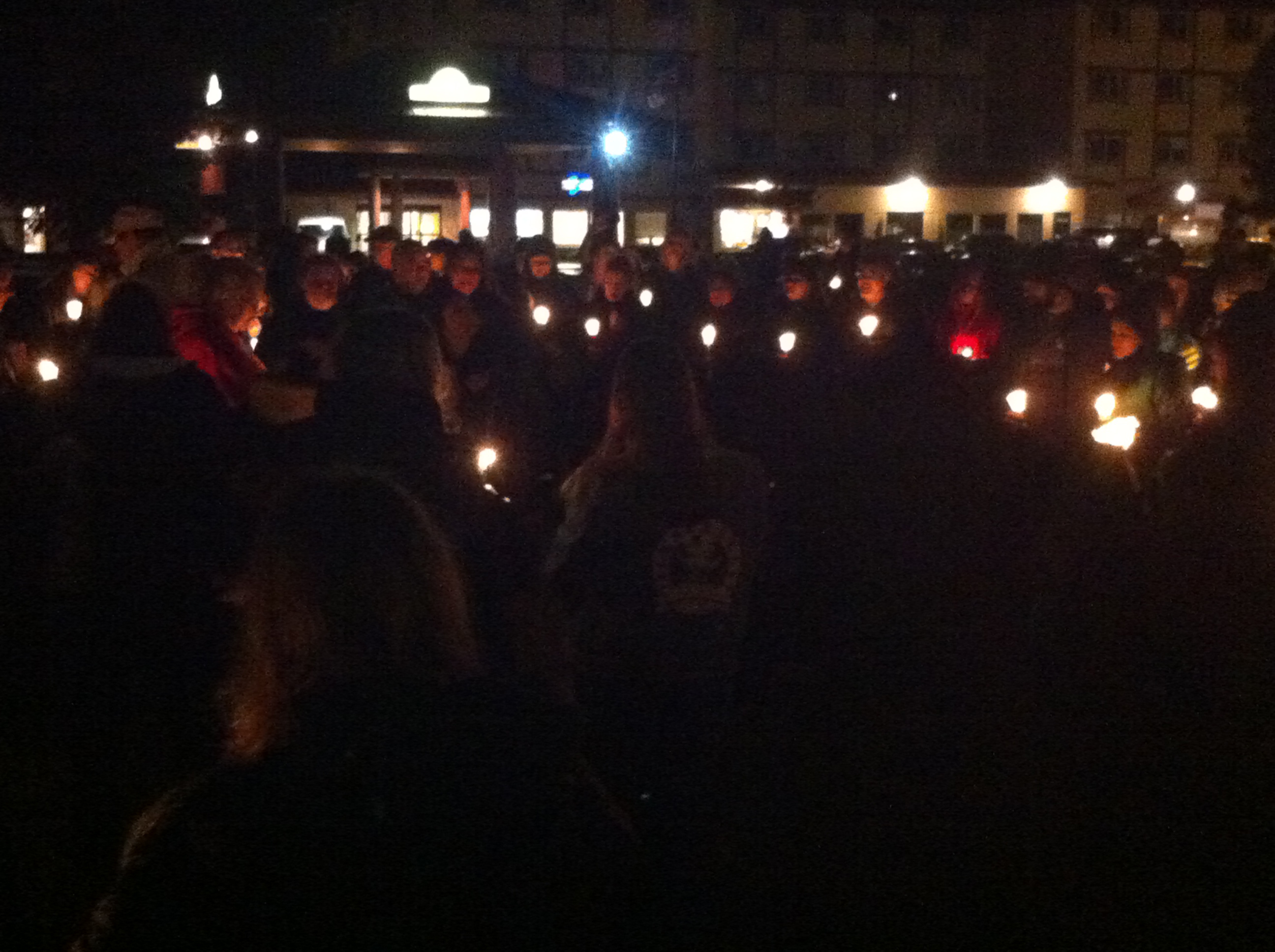 Candlelight vigil for Lael Grant's safe return