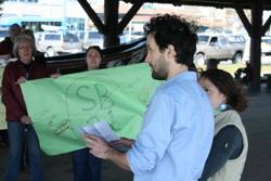 Sitkans stage protest as oil tax bill advances