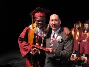 Bernie & Donovan on graduation day May 9, 2013.