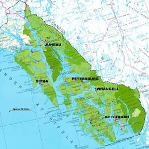 A map of the Tongass National Forest. Image courtesy USFS.