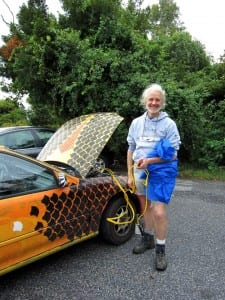 Wren's dad painted his car like a fish.