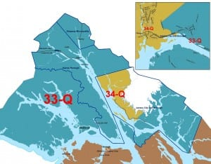 The new House District 33, which includes downtown Juneau, Douglas Island, Haines, Skagway and Gustavus.