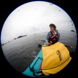 Oakes and her team did much of their fieldwork from kayaks, on West Chichagof Island.