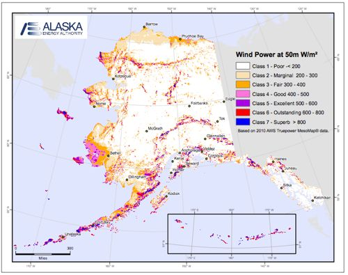 """Southeast Alaska is generally considered a poor wind prospect, but Sitka's utility director Chris Brewton says wind turbines could work as """"trickle chargers"""" to help keep more water in the hydroelectric reservoirs."""