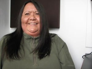 Louise Brady is one of six candidates for STA Tribal Council (photo by KCAW's Emily Forman)